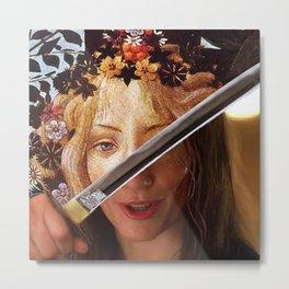 Kill Bill's Elle Driver & Botticelli's Flora Metal Print