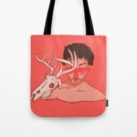 will graham Tote Bags featuring Will Graham Cross Section by Charlotte Foley