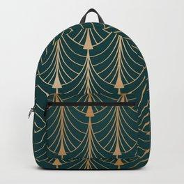 Hidden Sapphire Golden Pattern Background Backpack