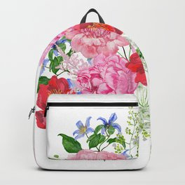 Bouquet of pink peonies Backpack