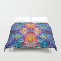 notebook Duvet Covers featuring Guardian's Notebook by Tanya Shatseva