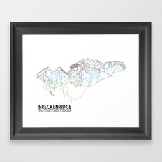 Breckenridge, CO - Minimalist Trail Map Framed Art Print