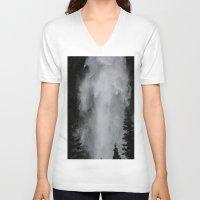 wonderland V-neck T-shirts featuring Wonderland by GretchenAnn