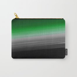 Green Gray Black Ombre Carry-All Pouch