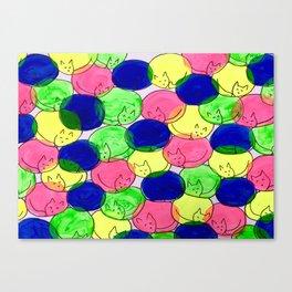 Kitty cuddles Canvas Print