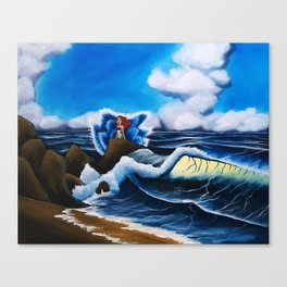 Ariel's Wave Canvas Print