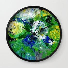 Abstract Floral - Botanical Wall Clock