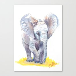 Ivy's Baby Elephant Canvas Print