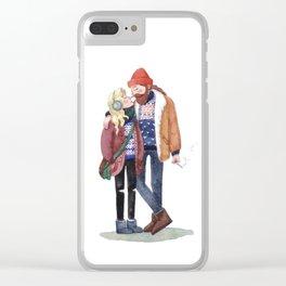 Scandinavian cuteness Clear iPhone Case