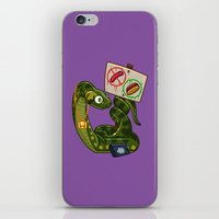 anaconda iPhone & iPod Skins featuring Anaconda Buns by Artistic Dyslexia