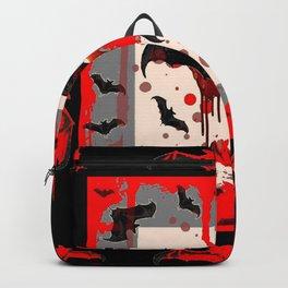 BLACK BATS & HALLOWEEN BLOODY ART DESIGNED Backpack
