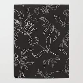 Hand Drawn Floral Poster