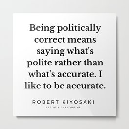 47   |  Robert Kiyosaki Quotes | 190824 Metal Print