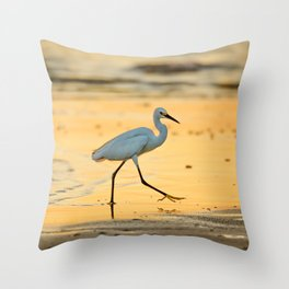 Walking on Gold Throw Pillow