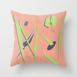 80s Shapes, Colors and Space Throw Pillow