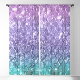 Mermaid Scales on Unicorn Girls Glitter #19 #shiny #decor #art #society6 Sheer Curtain