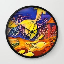 Midnight Reflections Wall Clock