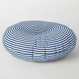 Navy & White Concentric Circle Print Floor Pillow