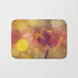 Golden Bubbles N Tulip Bath Mat