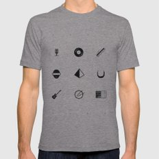 Tribute To Daft Punk, W&B. Mens Fitted Tee Tri-Grey 2X-LARGE