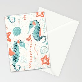 Swim Your Way. Seahorse Light Stationery Cards