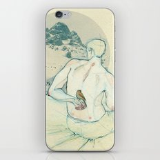 Boy and bird. iPhone Skin