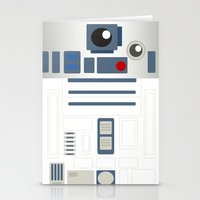 starwars Stationery Cards featuring StarWars - R2D2 by Sarrah Frie