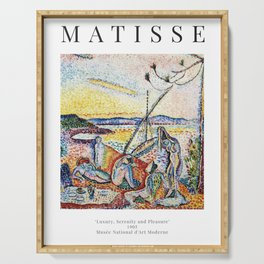Luxury, Serenity and Pleasure - Henri Matisse - Exhibition Poster Serving Tray