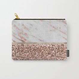 Warm chromatic - rose gold marble Carry-All Pouch