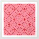 Moorish Circles - Pink & Red by dizanadesigns