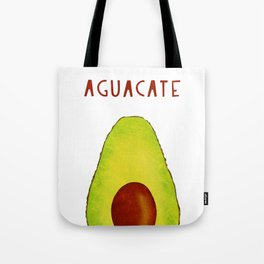 Aguacate Avocado Red Hand Lettering Tote Bag