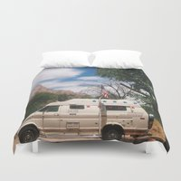 america Duvet Covers featuring America by Lauren Ogard