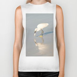 White heron Biker Tank