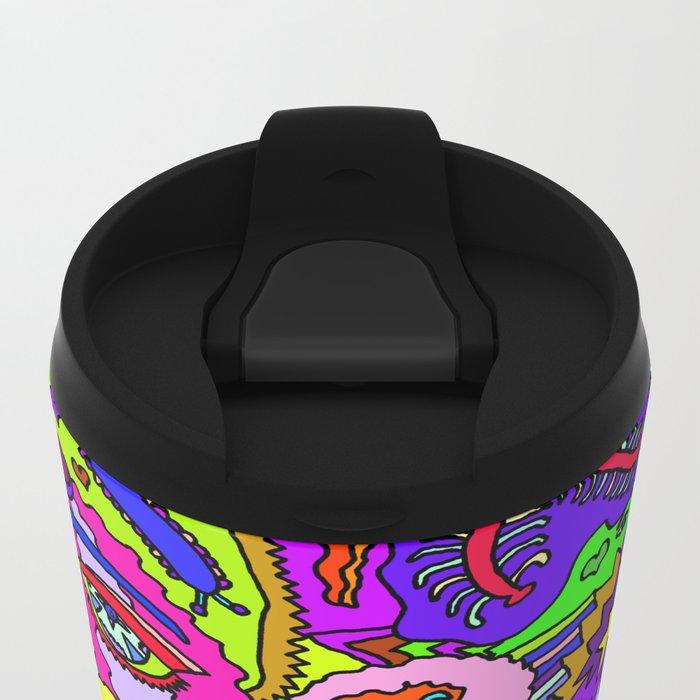 Abstract 25 Metal Travel Mug