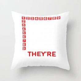 I Got Skills Multiplyin' Math Teacher design Throw Pillow