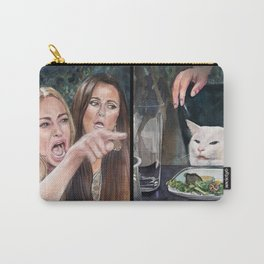 Woman Yelling at Cat Meme-3 Carry-All Pouch