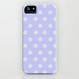Blue Ultra Soft Lavender Thalertupfen White Pōlka Large Round Dots Pattern iPhone Case