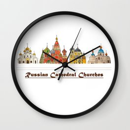 Colorful Cathedral Churches Wall Clock