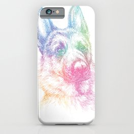 Splash German Shepherd iPhone Case