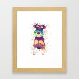 Schnauzer Art Framed Art Print