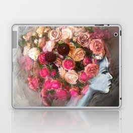 Flower Bloom Girl Laptop & iPad Skin