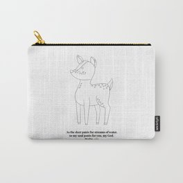 As the Deer Pants... -Psalm 42:1 Line Art Sketch Carry-All Pouch