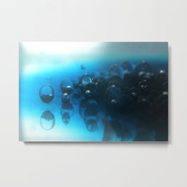 Another world. Oil and Water photgraphy. Metal Print