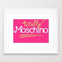 moschino Framed Art Prints featuring Totally Moschino by RickyRicardo787