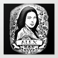 alex vause Canvas Prints featuring Alex Vause by SwanniePhotoArt