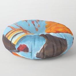 golden girls fruit bowl Floor Pillow