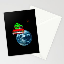 Ride to Mars selfie Stationery Cards