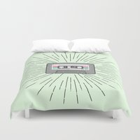 tape Duvet Covers featuring Tape by Colleen Sweeney