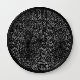 Shades of grey glasslite brick Wall Clock