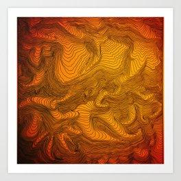 53.0672*N, 2.5241*W Art Print